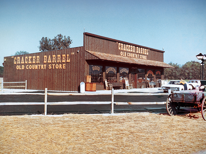 The first Cracker Barrel Store