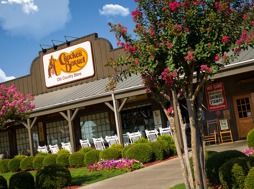 A new Cracker Barrel location opens
