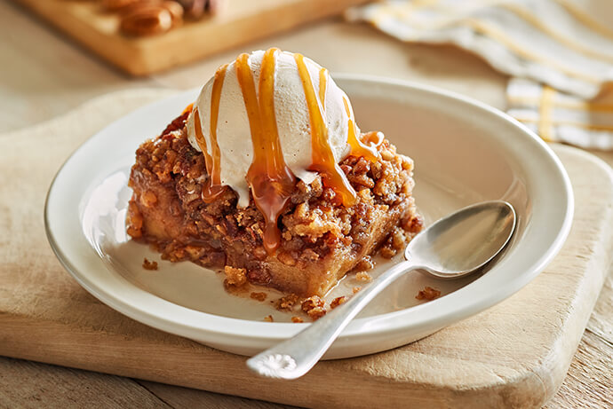 Praline Pecan Bread Pudding