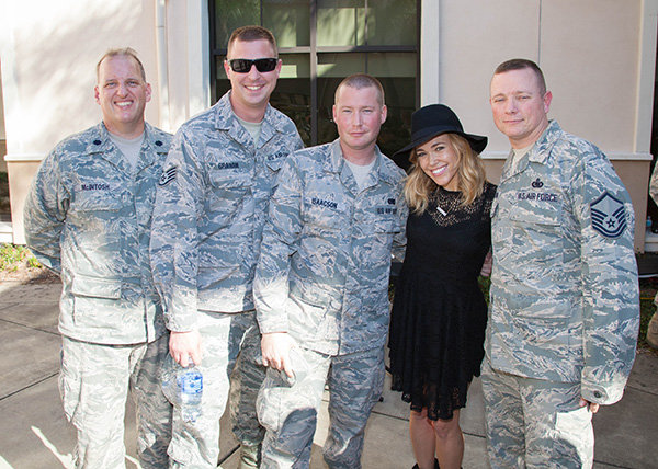 Rachel Platten With Soliders at MacDill Airforce Base
