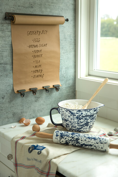 Country Living Splatterware Collection with Scroll