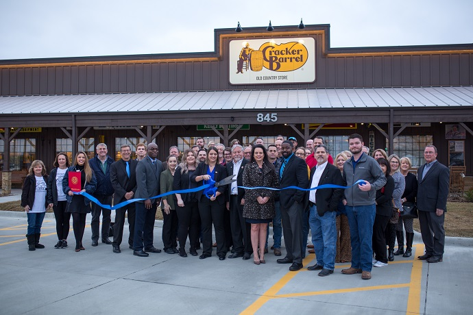 Cracker Barrel ribbon cutting in Rockwall, TX