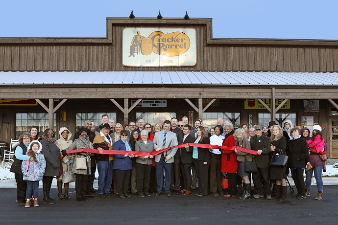 Cracker Barrel ribbon cutting in Winston-Salem, NC